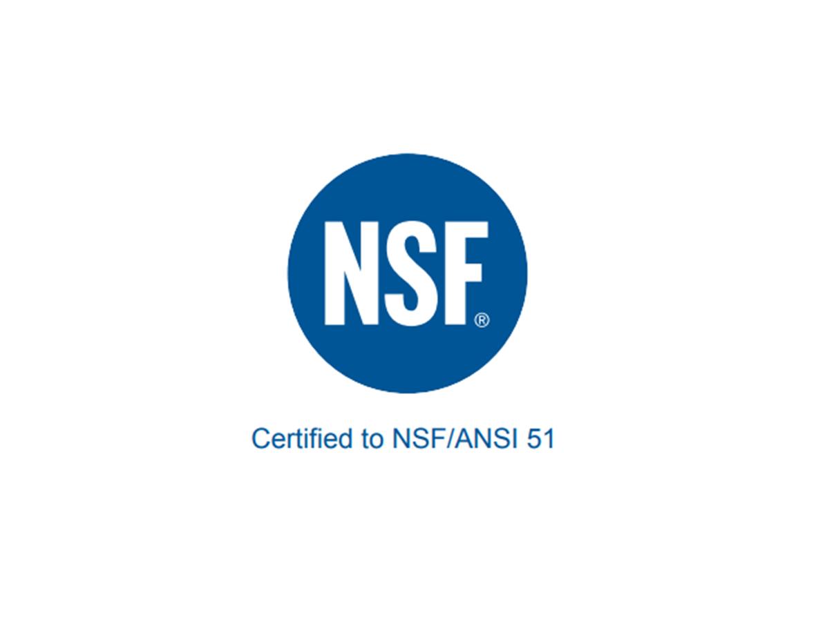 NSF/ANSI 51 Certification